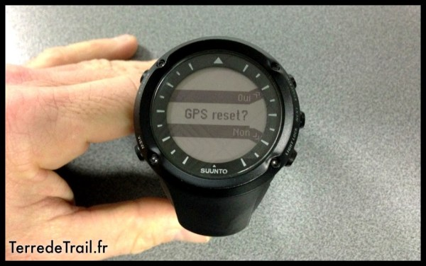 Suunto ambit : Reset du module GPS