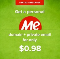 Domain Murah dot Me Harga $0.98 di NameCheap logo
