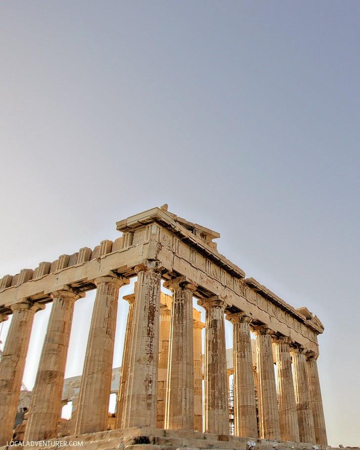 The Greek Parthenon in Athens Greece.