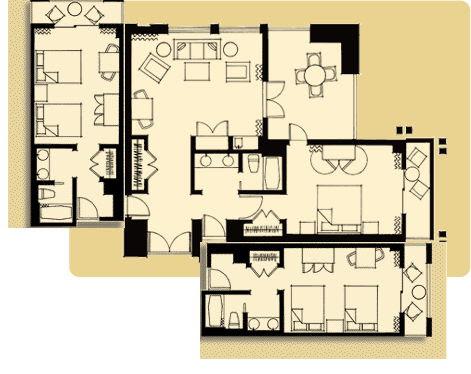 Bedroom Hotel Suite Is Formed Img