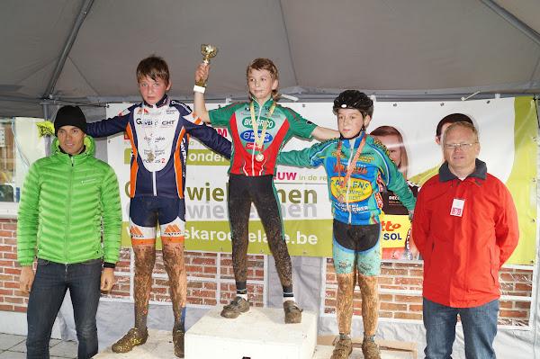 Podium Aspirantencross 12 jaar MSKA Roeselare