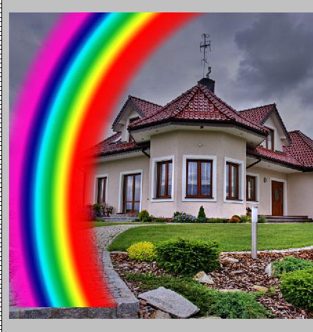 Arraste o arco-íris até a posição indicada