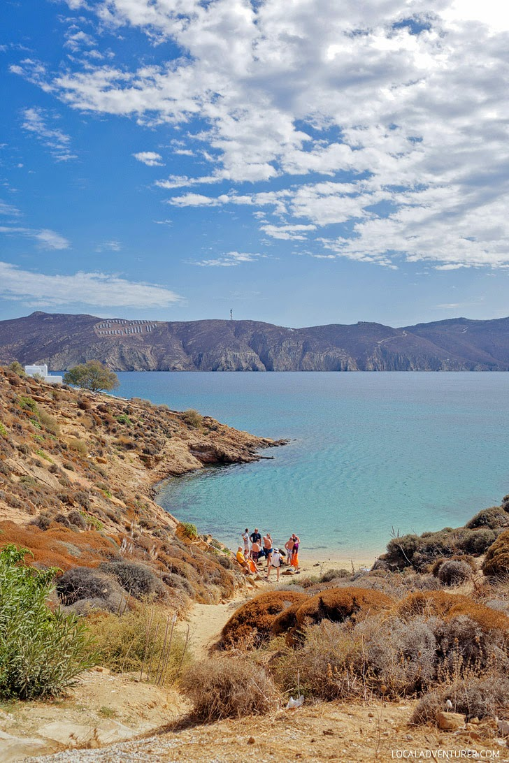 Agios Sostis Beach Mykonos Greece.