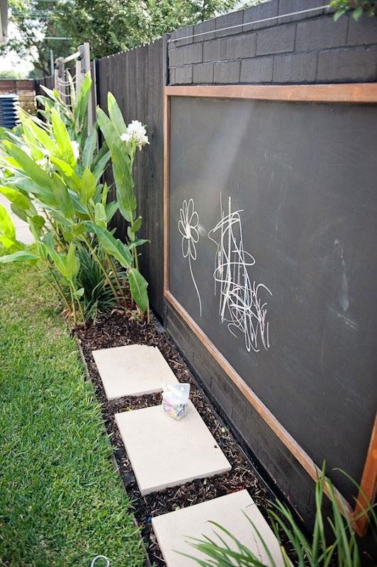 Estupenda idea para decorar el exterior con pizarra - Pizarras para decorar ...