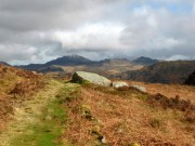 Harter Fell and Green Crag in the distance