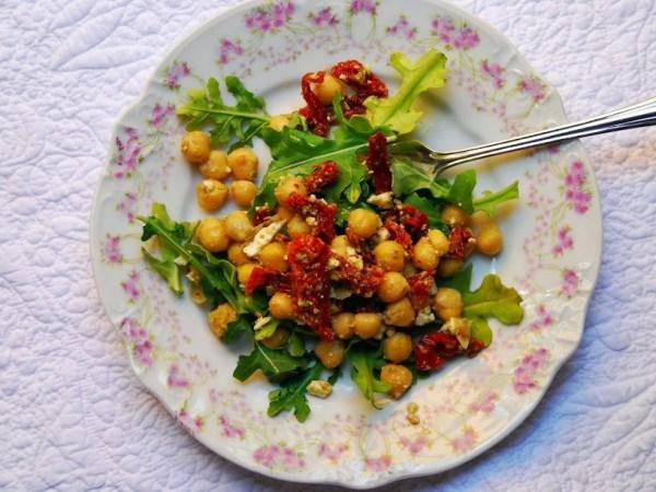Chickpea, Sundried Tomato and Feta Salad