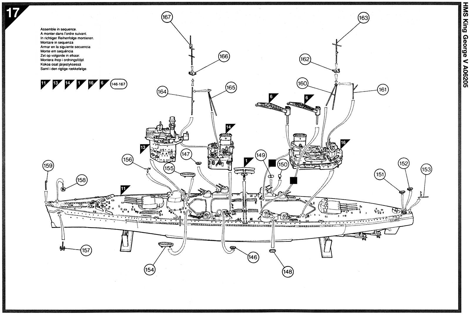 Airfix 1 600 Hms King George V A