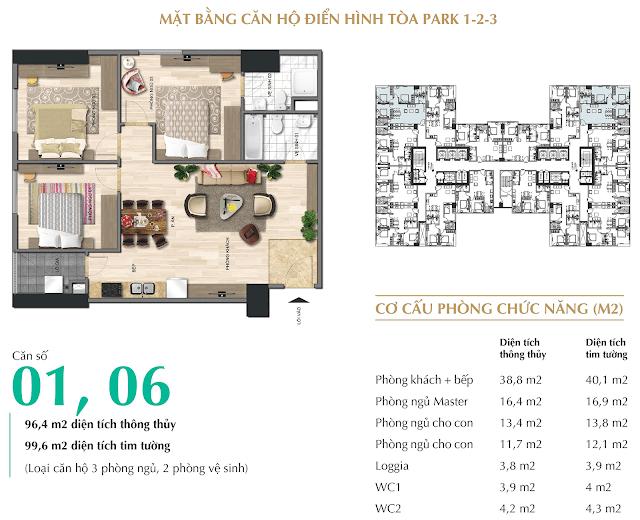 Căn 2 phòng ngủ 80.1m2