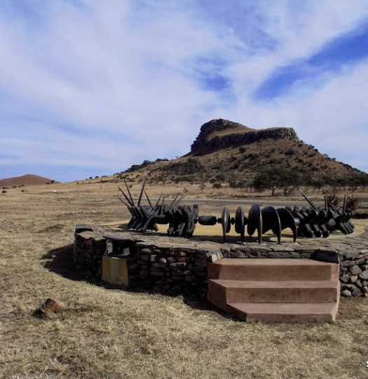The Zulu memorial at Isandlwana