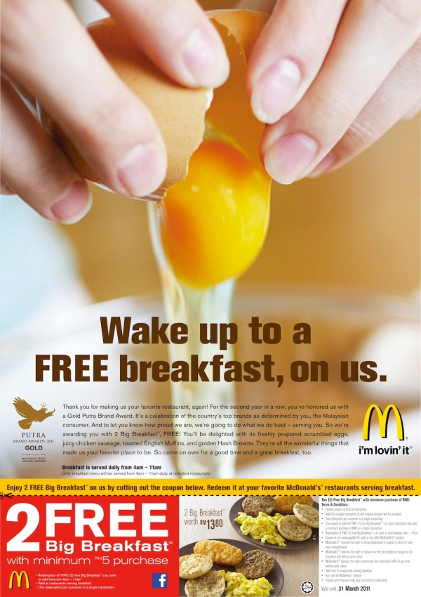 You. Me. Us: FREE 2 McDonald's Big Breakfast (Valid till ...