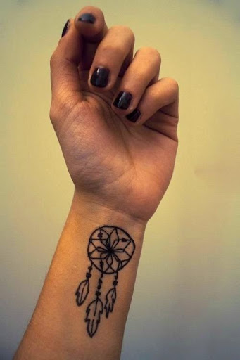 Dreamcatcher Tattoos on wrist