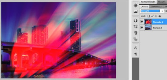 Mesclagem Luz do pino (Pin light)