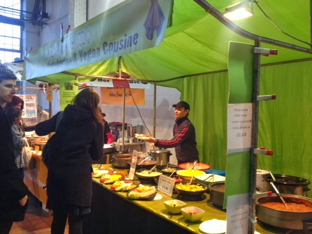The Ethiopian stall at the World Food Market, Brick Lane