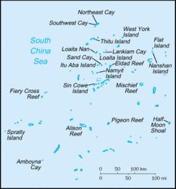 Spratly Islands in South China Sea