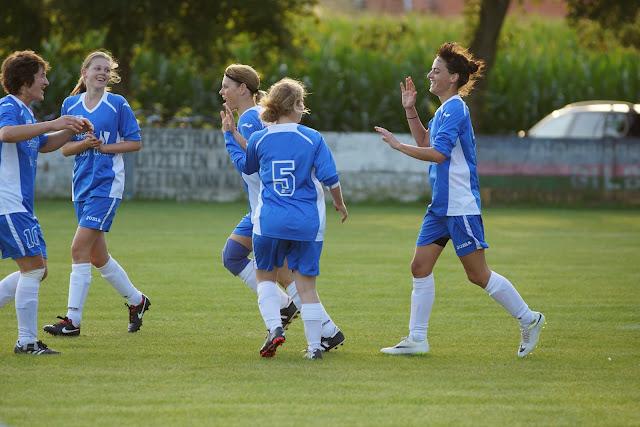 vreugde na de goal