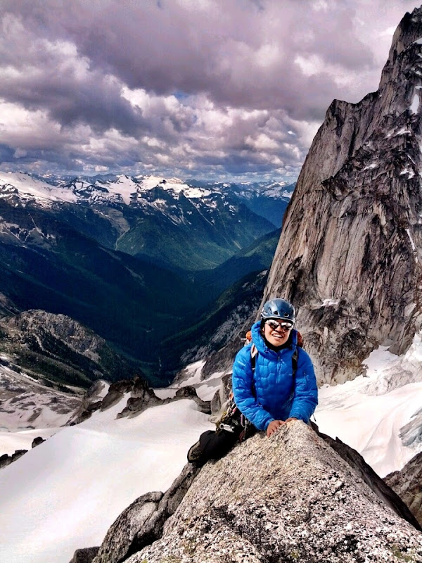 West Ridge of Pigeon Spire in Bugaboos, Canada