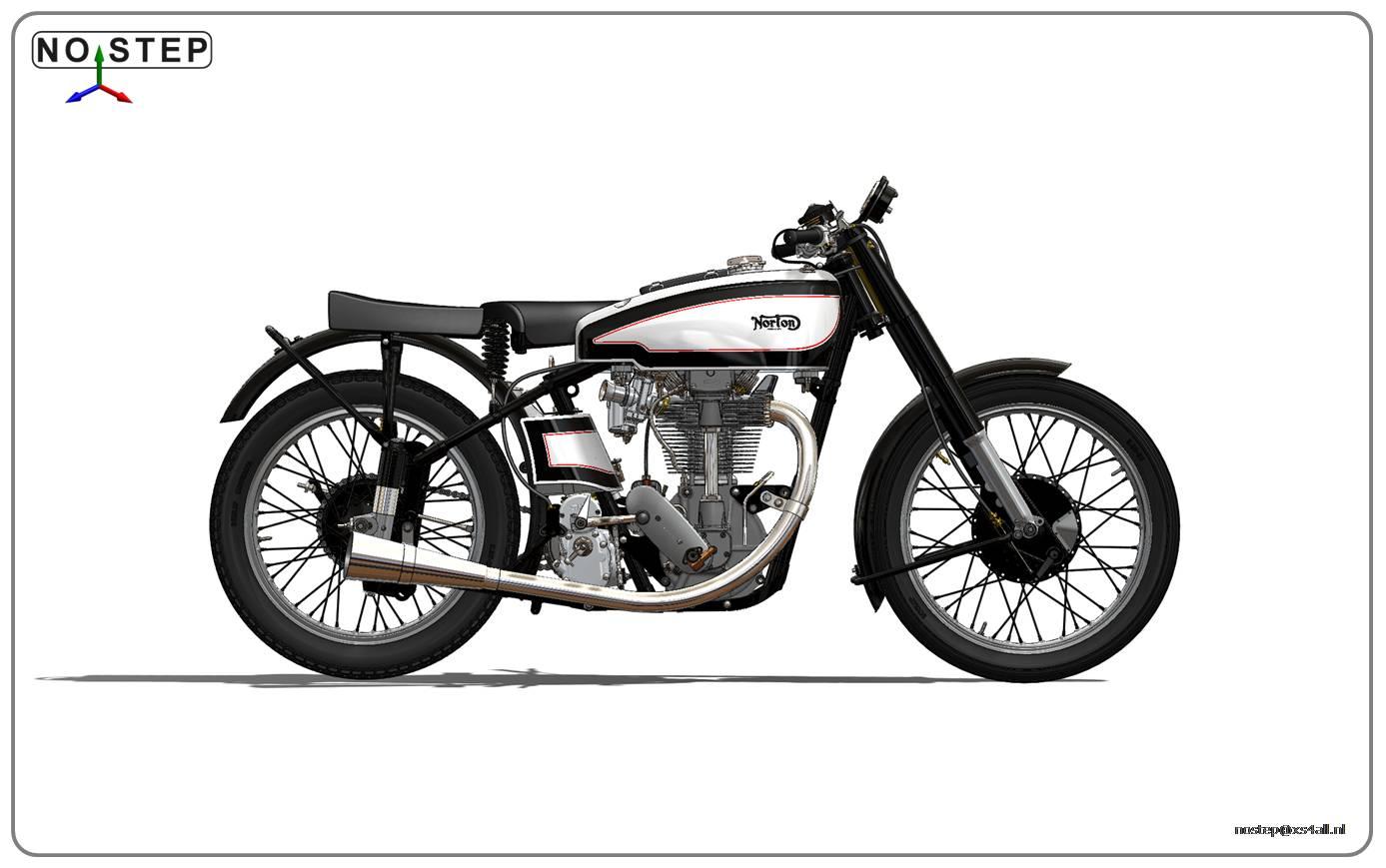 The Dutch Vintage Motorcycle Association Norton Manx Engine Art
