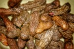 Delicious, boiled peanuts (Cacahuates) served hot with freshly squized lime juice over.