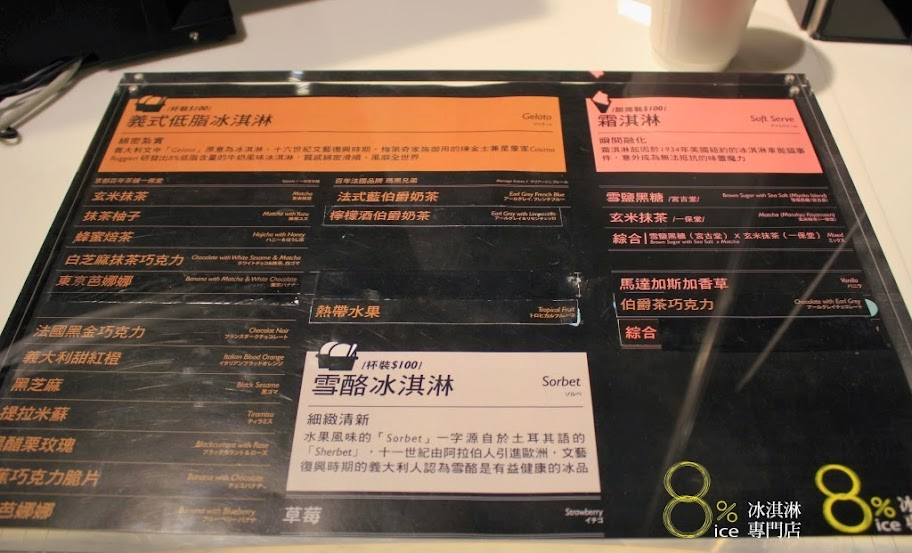 台南小西門,8%ice冰淇淋專賣店-1