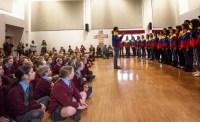 Miembros de la CNJSBV interpretaron piezas en las que las voces evocan los instrumentos populares de Venezuela