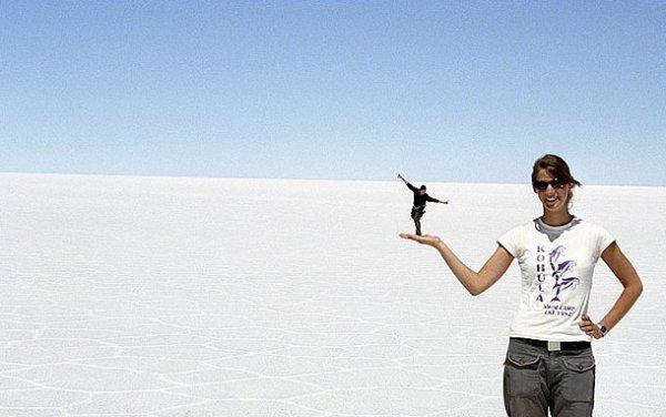 La perspectiva en Uyuni