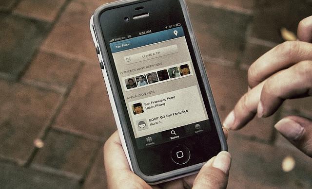 Foursquare, guias de viajes y dispositivos moviles