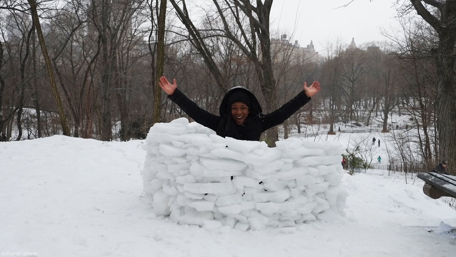 Central Park ice fort