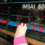 I let my daughter play with my IMSAI 8080 last night