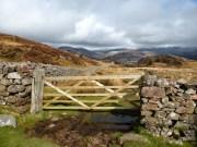 Eskdale Fells through the gate