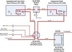 Separating start and house batteries for single engine