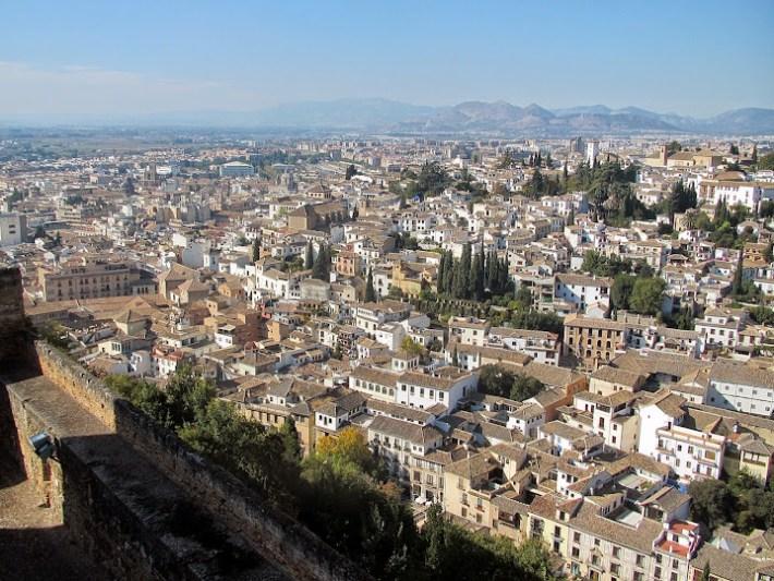 Ruta por Andalucía. Vistas de Granada desde la Alhambra