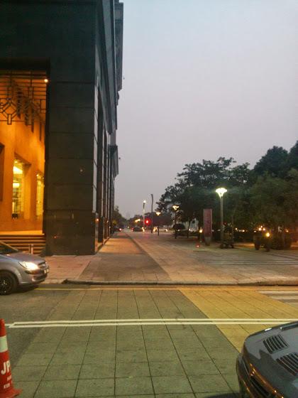 Hazy Putrajaya at 7am.