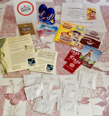 Lots of free samples I have collected - Rachel Bustin