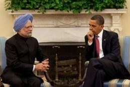 Indian Prime Minister Manmohan Singh with US President Barack Obama