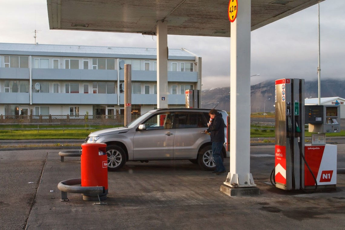 At the Höfn's N1 gas station