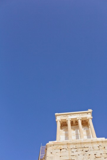 The Temple of Athena Nike in the Acropolis of Athens Greece.