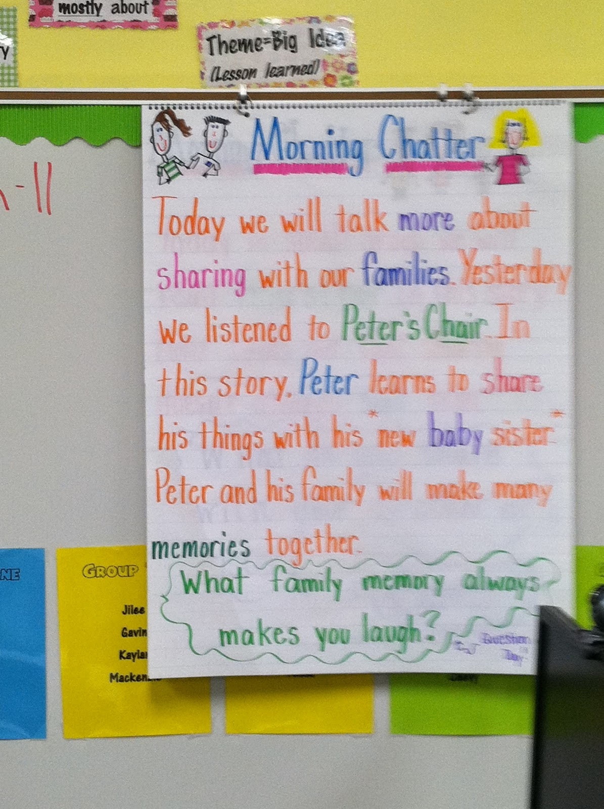 Life In First Grade Morning Chatter