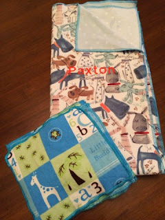 How to use a serger to make a simple, fast baby blanket.