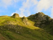 The Sun Shines On The Peaks Above The Winnats Pass