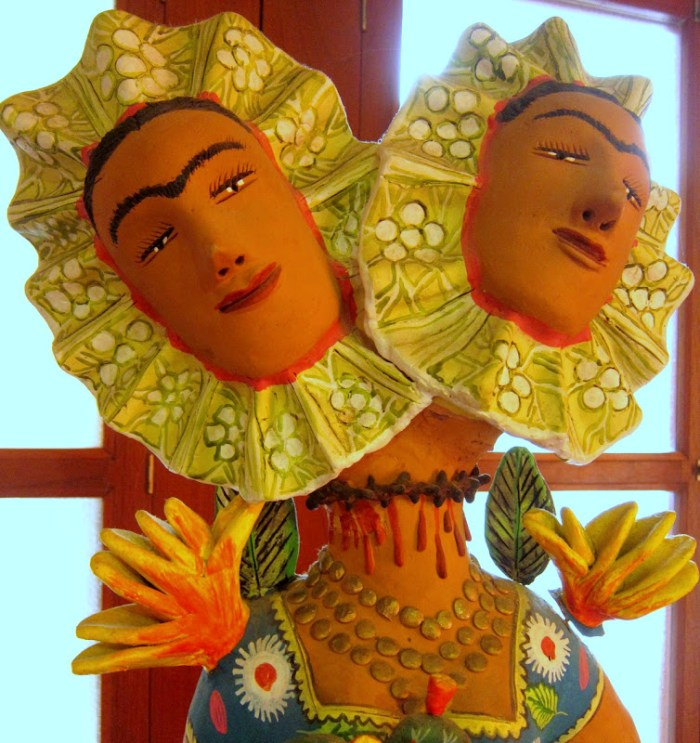 2 headed Frida Kahlo, La Casa de Los Venados