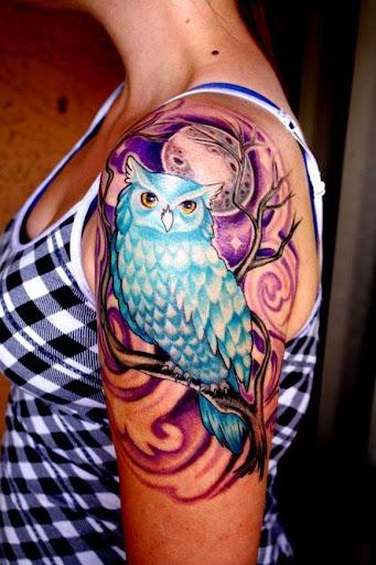 owl tattoos for girls