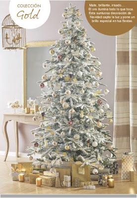 Decorar con dorados en Navidad.
