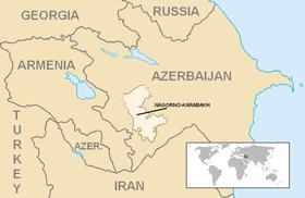 The borders of the former Nagorno-Karabakh Autonomous Oblast