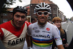 Eddy Merckx Look-a-like en Thor Hushovd