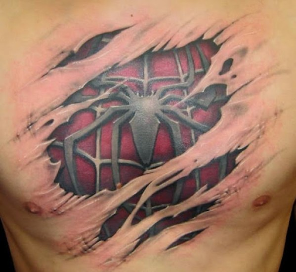 3d Chest Tattoos
