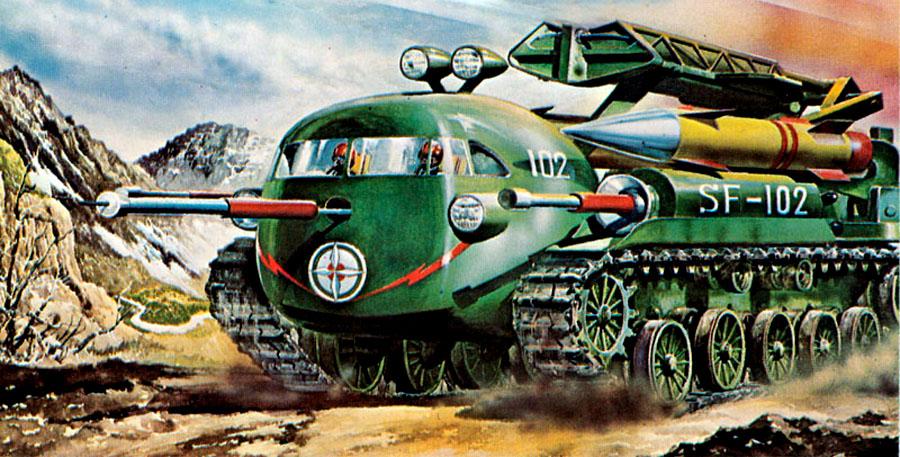 Retro Futuristic Flying Cars