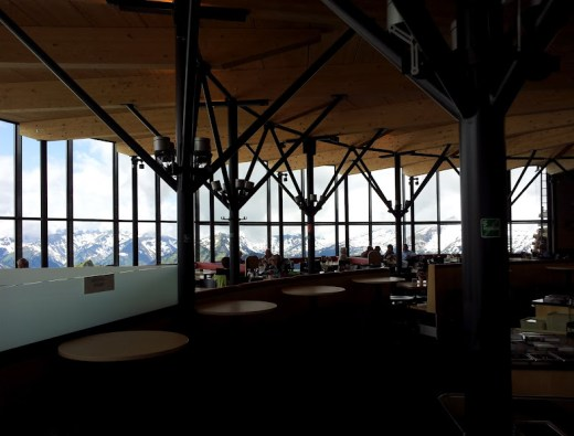 Blick in das Panoramarestaurant
