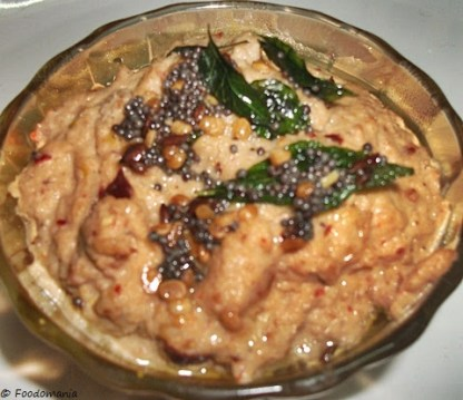 Onion Peanut Chutney Recipe