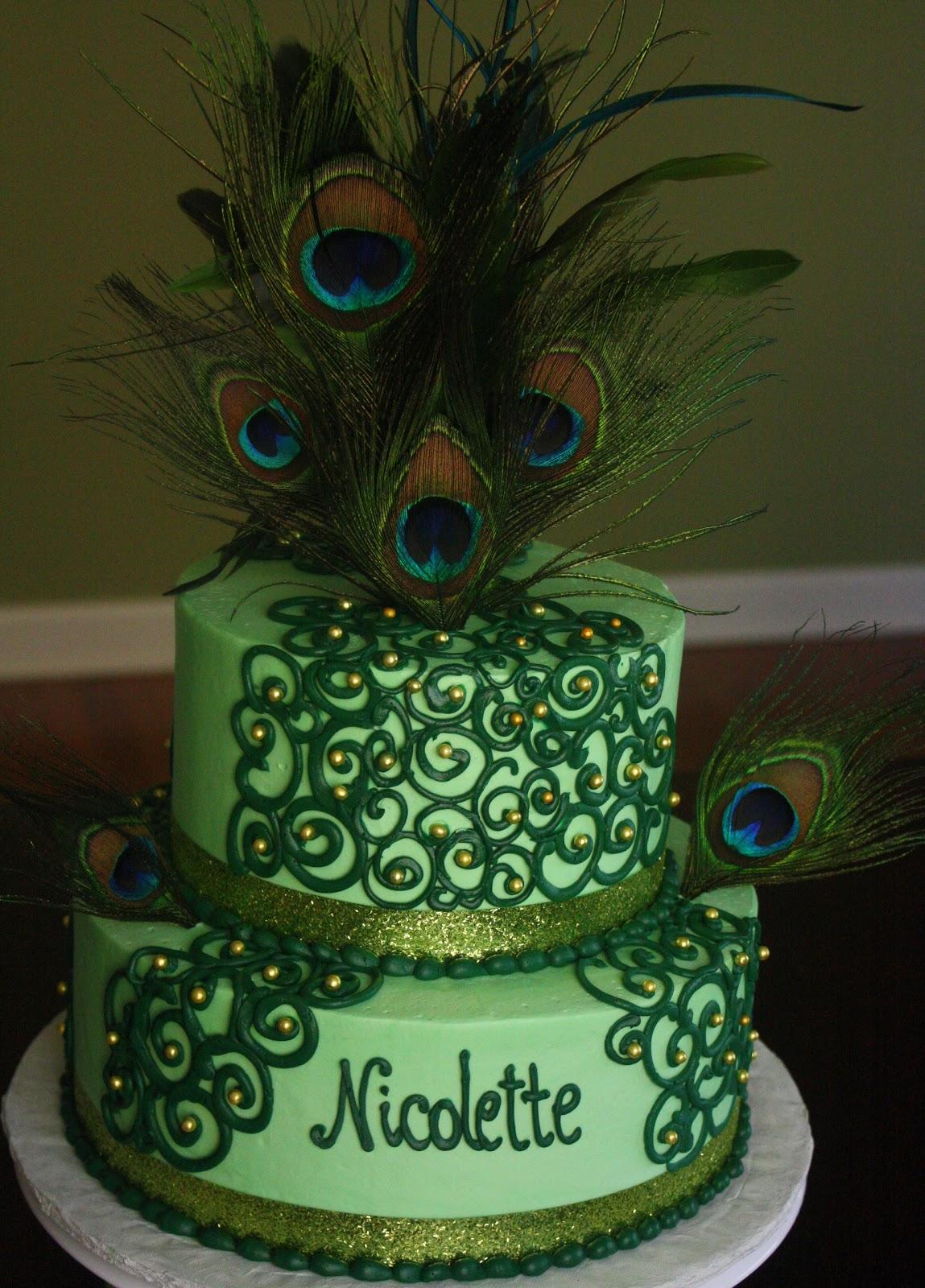 Claudine Peacock Cake