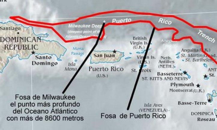 Resultado de imagen para Fosa de Puerto Rico